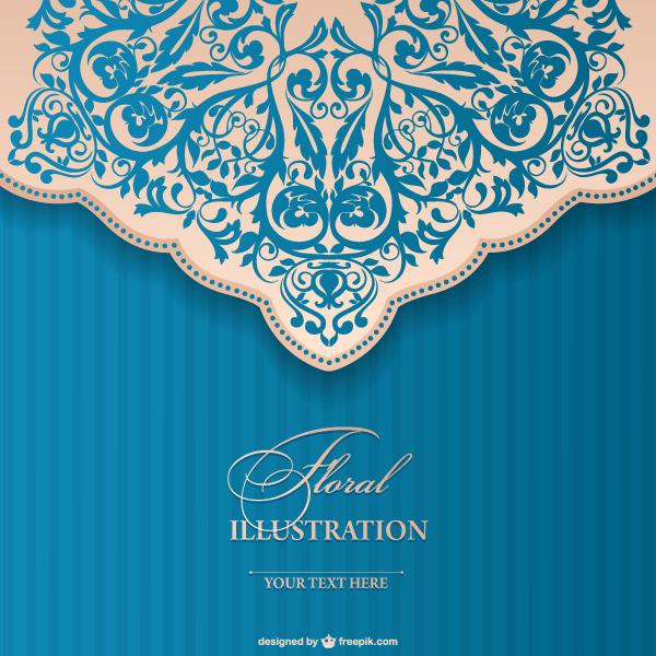 Floral Invitation Template Free Vectors Pinterest Invitations