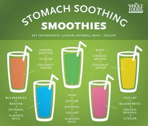 tummy soothing smoothies! good to remember!!