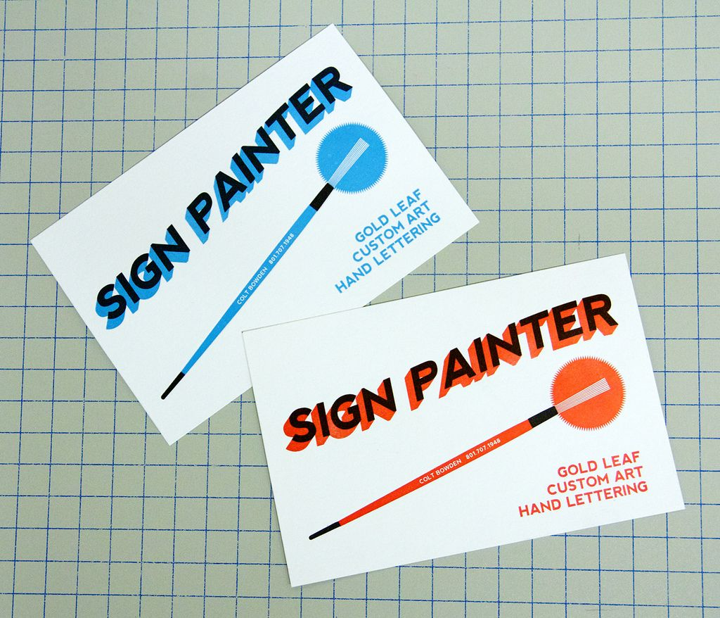 Blogger Hand Lettering Cool Business Cards Painted Signs