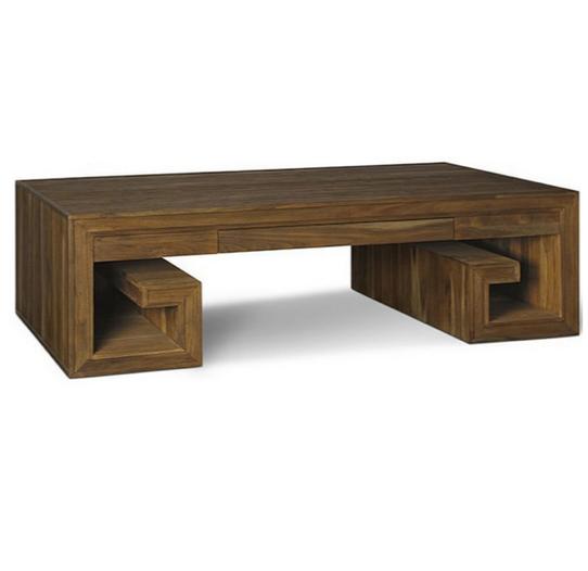 Brownstone Furniture Crawford Greek Key Coffee Table Living Room