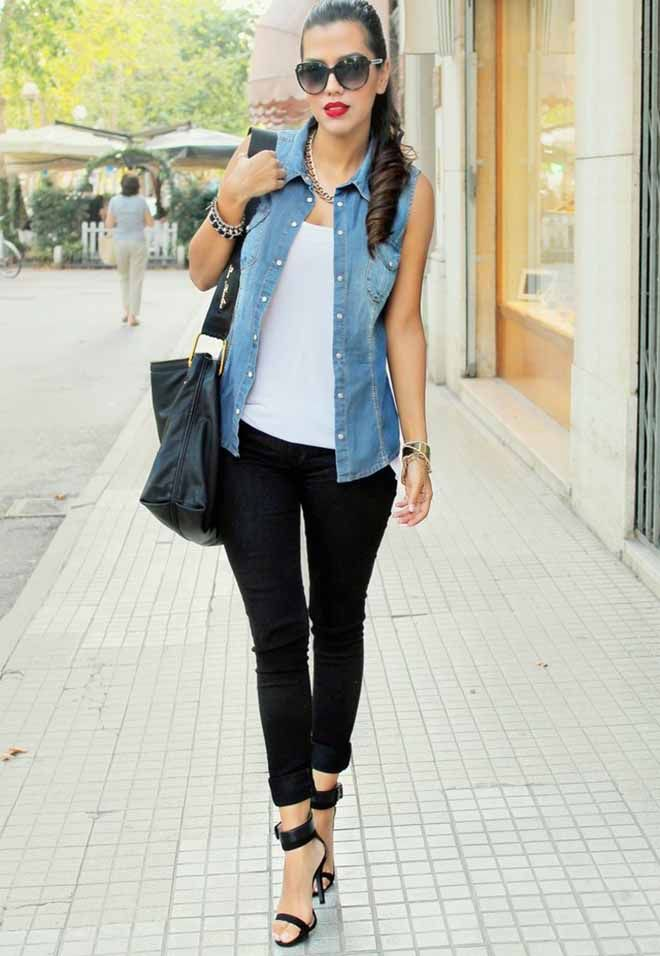 Jean Jacket Outfits | Denim jacket women outfit 9 | Things I like ...