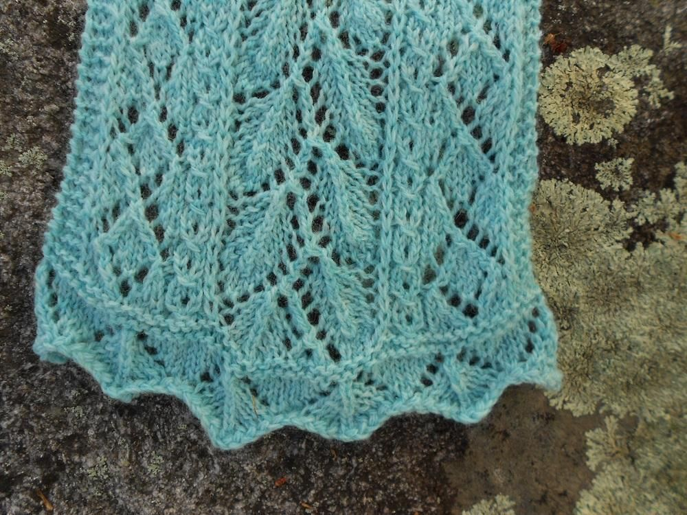 Mint Leaf Lace Scarf | Knitting patterns, Knitting designs and Patterns