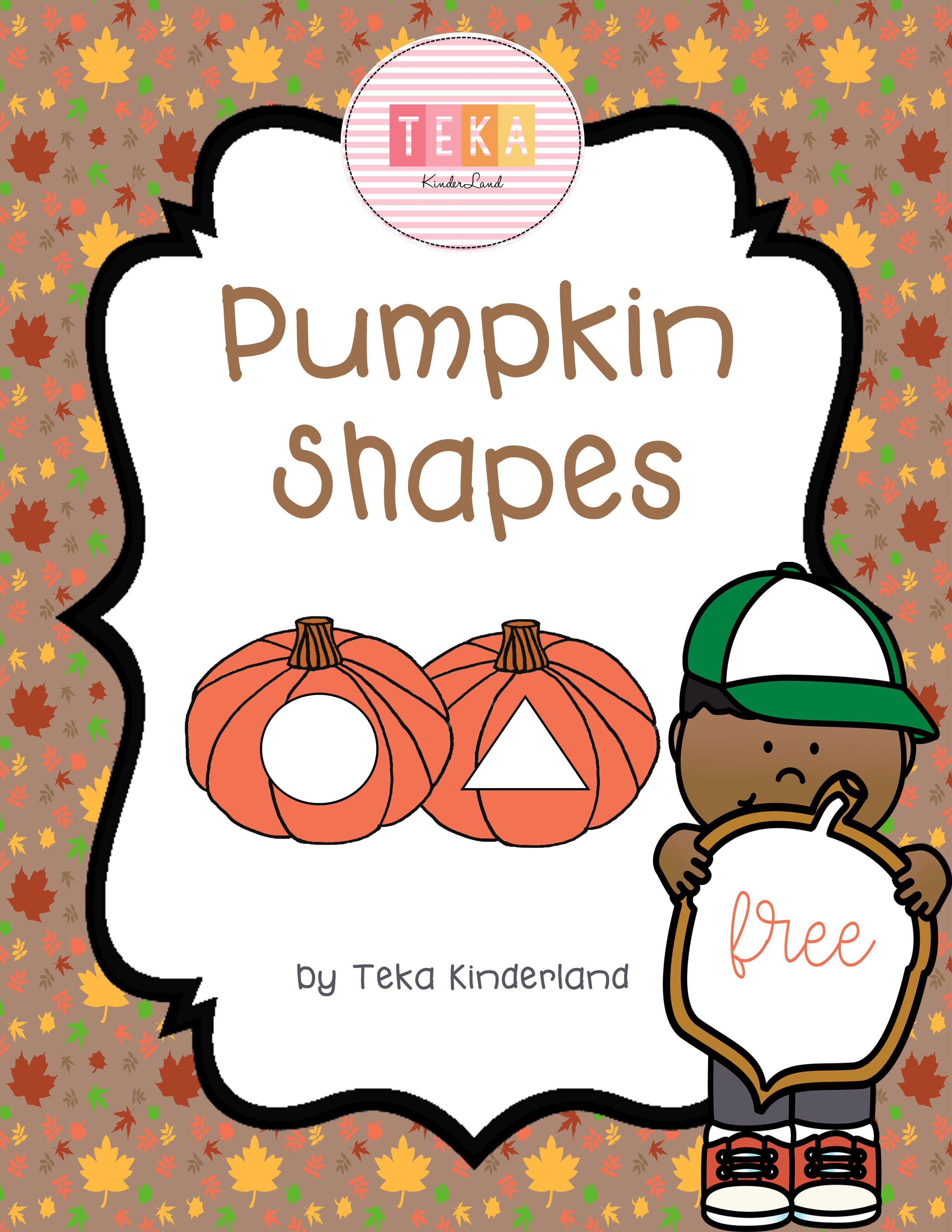 Free Pumpkin 2d Shape Cards Printable By Teka Kinderland