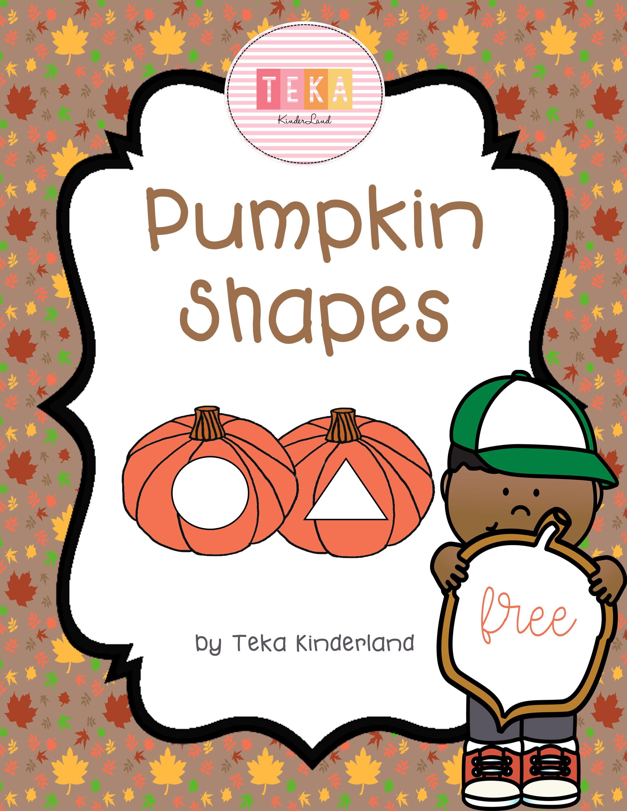 Free Pumpkin 2d Shape Cards Printable By Teka Kinderland