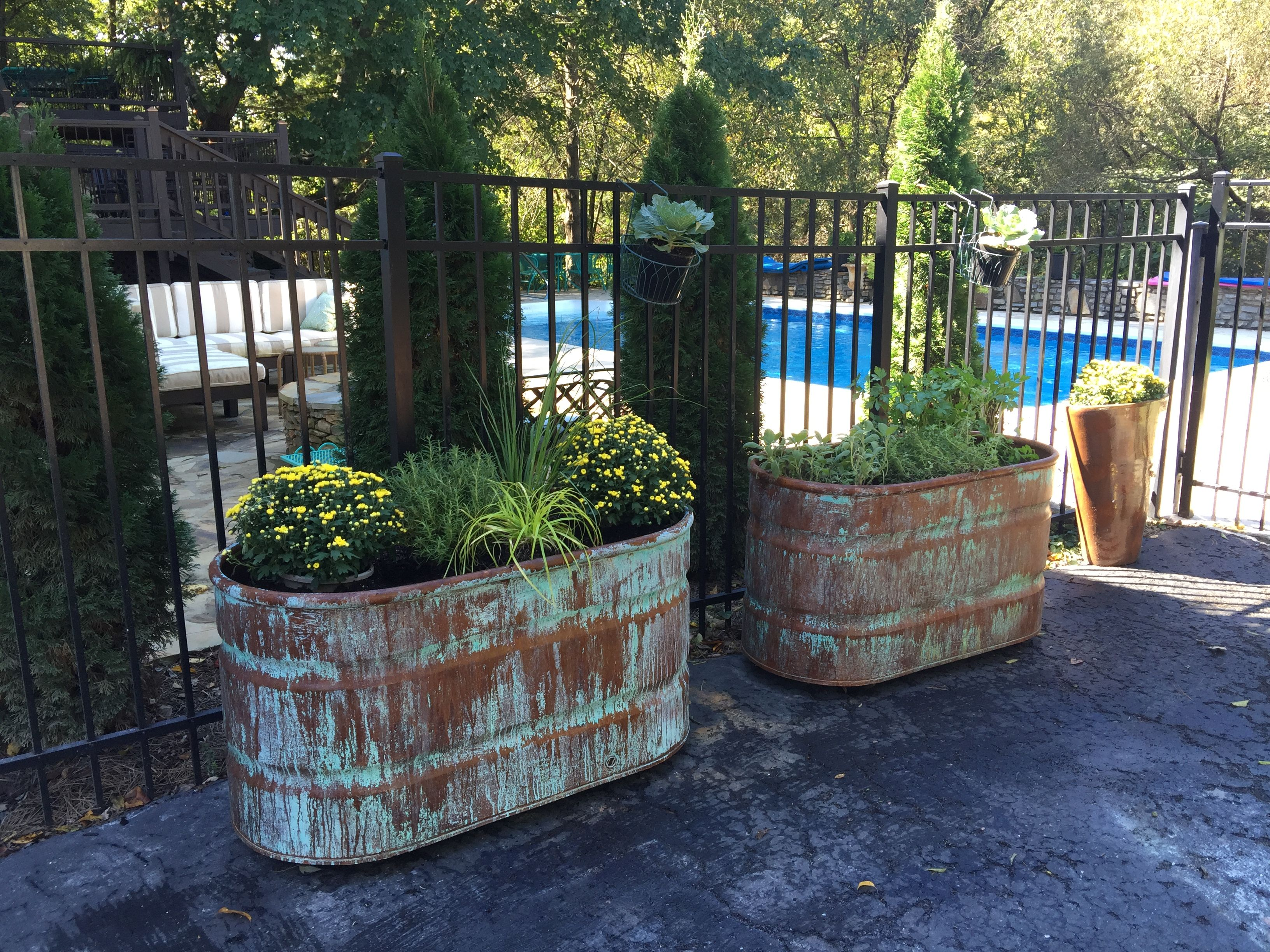 Copper Patina Container Garden | Bella Tucker Decorative Finishes | Modern  Masters Metal Effects Galvanized Planters