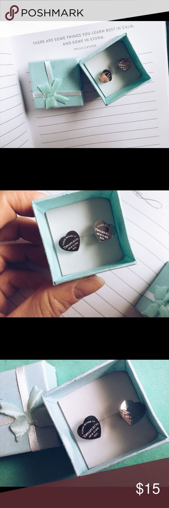 Heart Earrings High Quality Replica Tiffany Co Comes With Gift Box