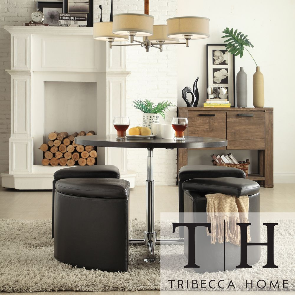 Tribecca Home Bingley Adjustable Space Saver 5Piece Cocktail Enchanting Space Saver Dining Room Sets 2018