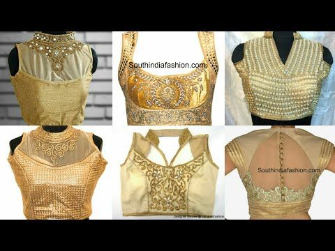 3d748eca2572ef Collar neck blouses. - YouTube | design | Blouse designs, Sari ...