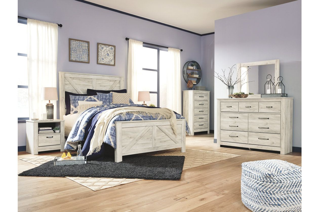 Bellaby Queen Crossbuck Panel Bed Bedroom Sets Queen Panel Bed