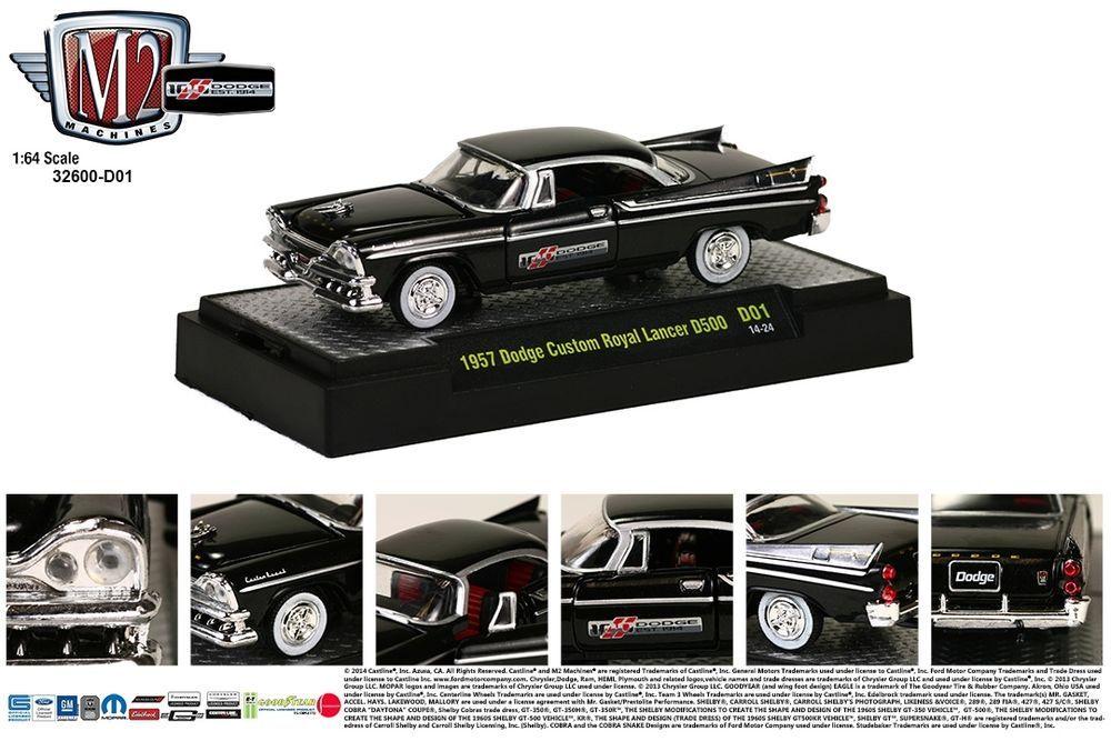 1957 Dodge Custom Royal Lancer D500 M2 Machines 164 DODGE