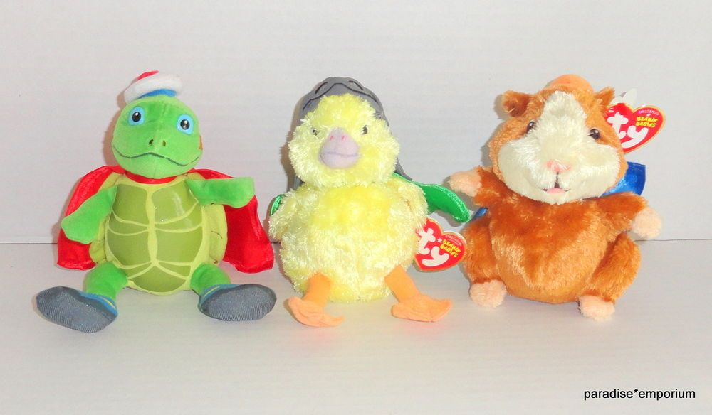 New Ty Beanie Babies Wonder Pets Plush Set Lot Tuck Linny Ming