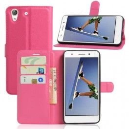 Huawei Y6 II pinkki puhelinlompakko.