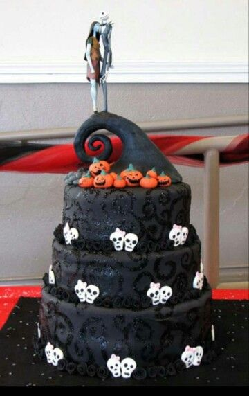 Nightmare before christmas cake halloween Pinterest Christmas