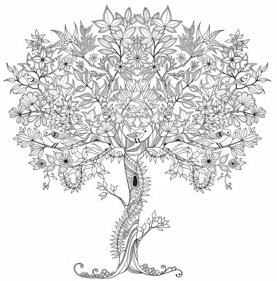 Adult Coloring Pages Tree1 Adult Coloring Pages Pinterest