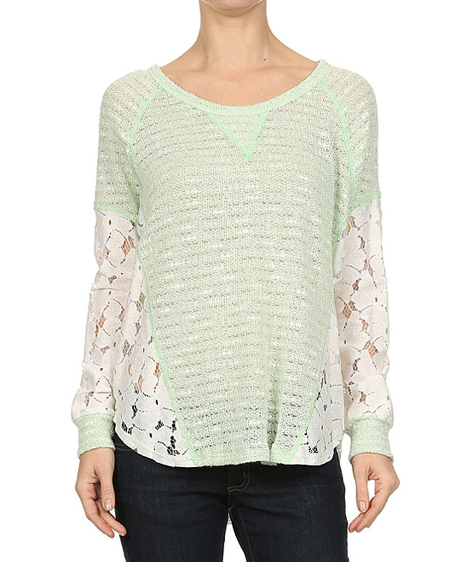 Love this Le Lis Collection Lime Floral Lace Dolman Top by Le Lis Collection on #zulily! #zulilyfinds
