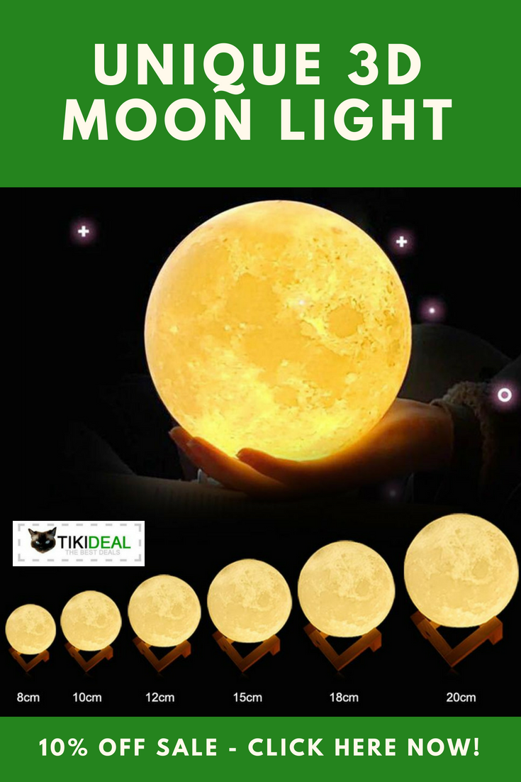 Rechargeable Moon Lamp 3d Print Moon Night Light Great Gift Moonlight Moon Moonlamp Nightlight Moon Light Lamp Lamp Small Space Interior Design