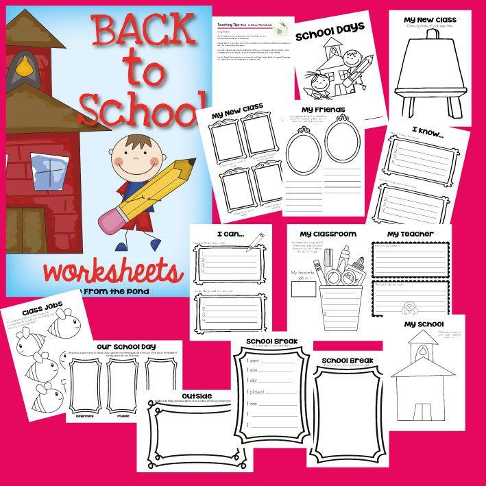 Back to School Worksheets $