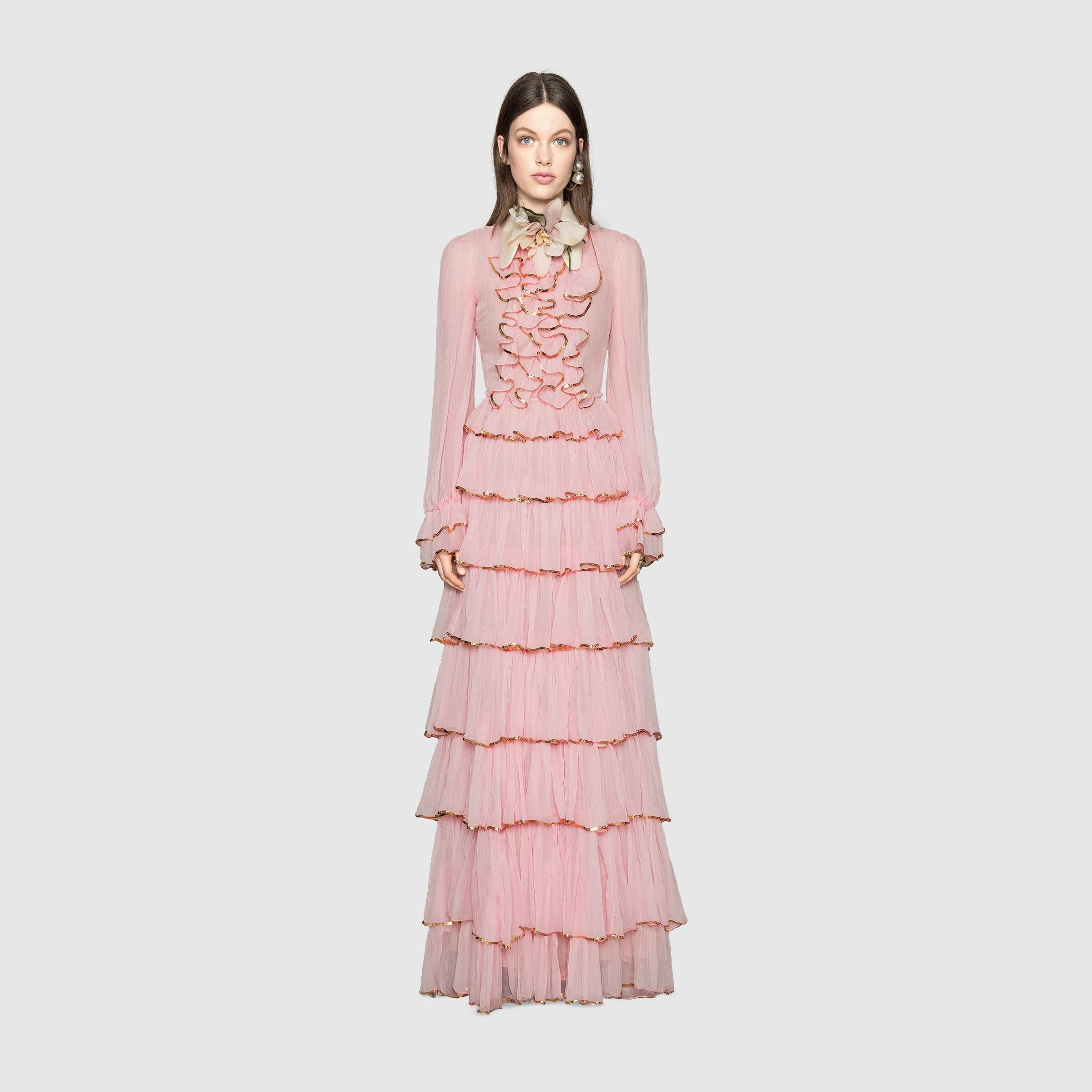 Flame embroidered chiffon gown - #Gucci Women\'s Dresses ...