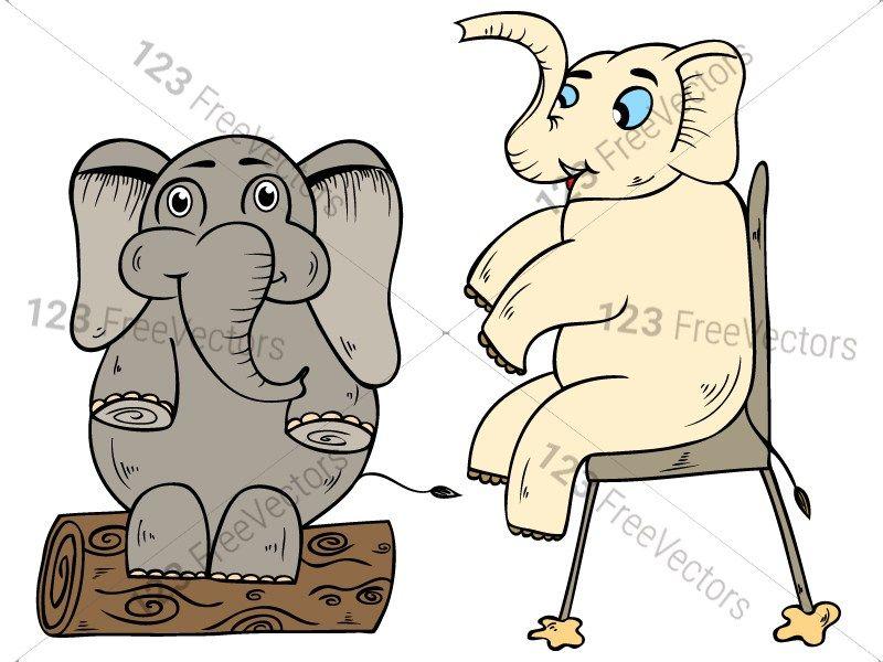 Cartoon Elephant Vector and Photoshop Brush Pack-01 ...