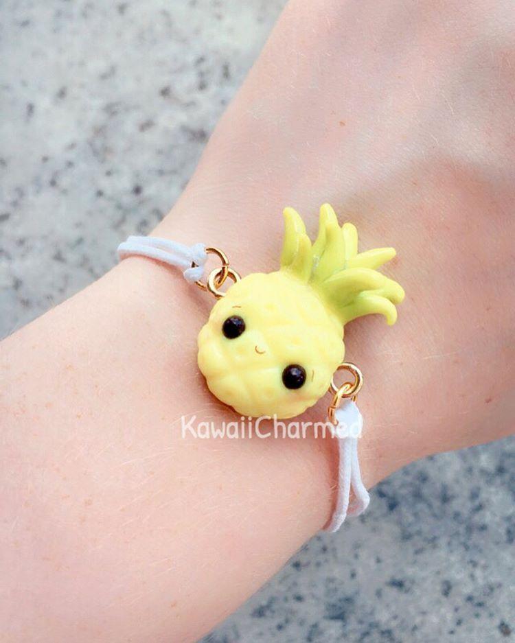 Fimo Fiore98j.Pineapple Bracelet Hey Everyone Here Is A Pineapple Charm