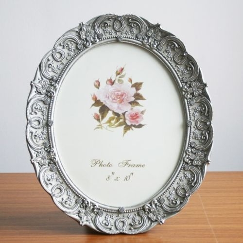 Details about Retro Style Dark Gray Oval Home Decor Photo Frame ...