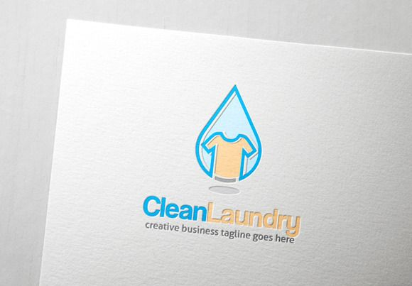 Clean Laundry Logo By Graphicsauthor Laundry Logo Cleaning