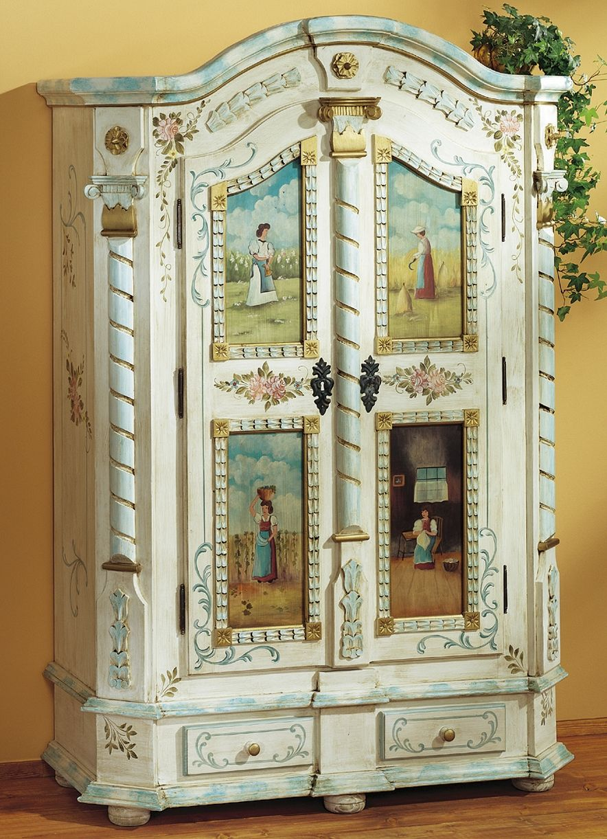 Dielenschrank | bauren malerie | Pinterest | Paint furniture ...