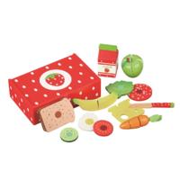 MaMaMeMo Legemad i træ Jordbær madkasse med legemad. Se mere på www.kitchen4kids.dk i kategorien Kitchen4kids Play