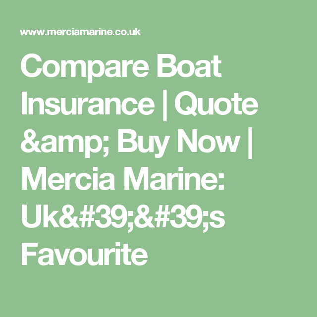 Boat Insurance Quote Magnificent Compare Boat Insurance  Quote & Buy Now  Mercia Marine Uk''s . Review