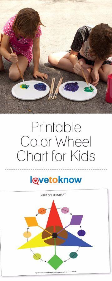 Printable Color Wheel Chart For Kids Pinterest Color Wheels