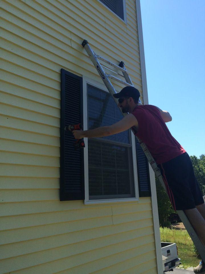Diy how to paint vinyl shutters in 2020 paint vinyl