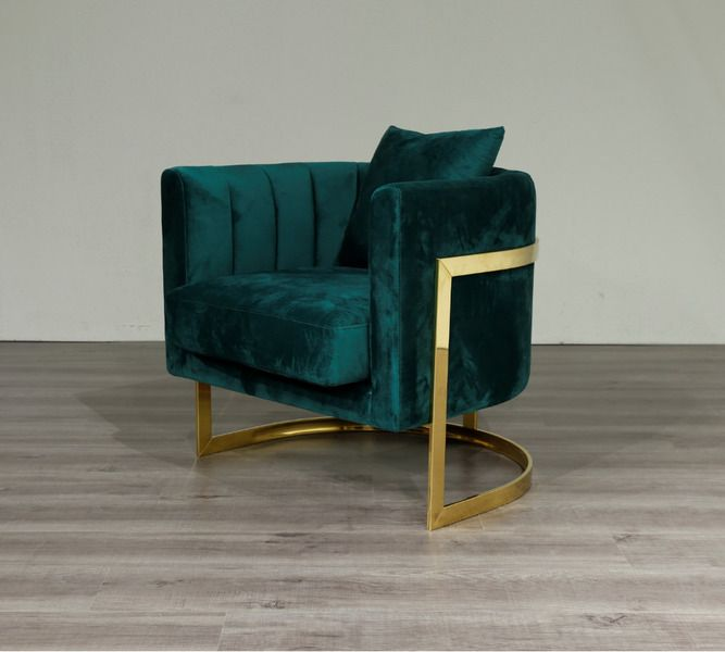 Emerald Green Velvet Gold Frame Arm Chair Accent Chair Free Uk Delivery In 2020 Green Armchair Accent Chairs Leather Tub Chairs