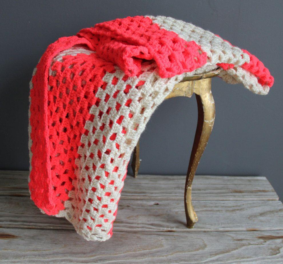 Neon Pink Afghan Blanket