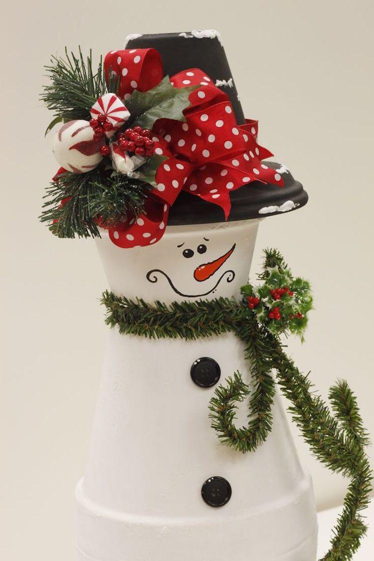 Kinder basteln mit Blumentöpfen zu Weihnachten – 7 Tontopffiguren Ideen #bonecas