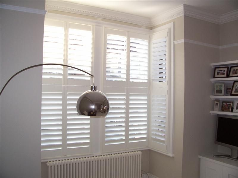Square Bay Halifax Wooden Window Shutters With Hidden Tilt