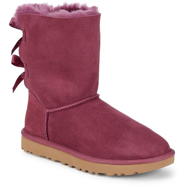 UGG Women's Bailey Bow II Shearling Boots - Size 5 ($120) ❤ liked on