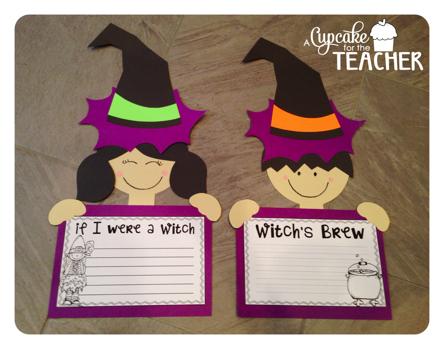 Make These Adorable Witches With Your Class For Halloween