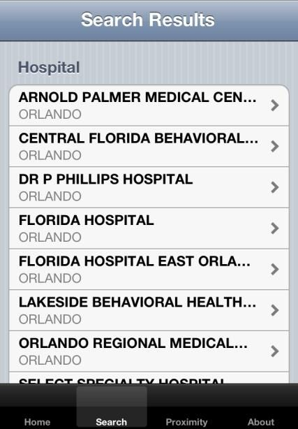 Awesome app from AHCA that shows you medical facilities in your area. Super handy if you are traveling with the family. Would you know what ER to take your family to if there was an emergency while you are on vacation?