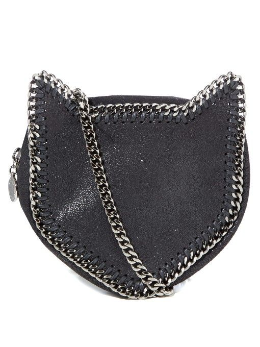 7d781ffdef615 Stella McCartney Cat Falabella faux-suede cross-body bag | Chain-ed ...