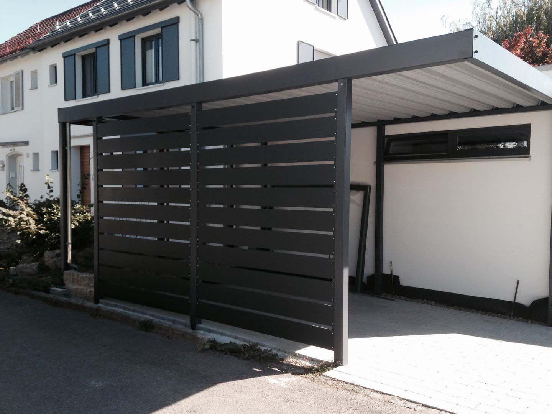 Design Metall Carport aus Stahl Hannover Deutschland Stahlzart