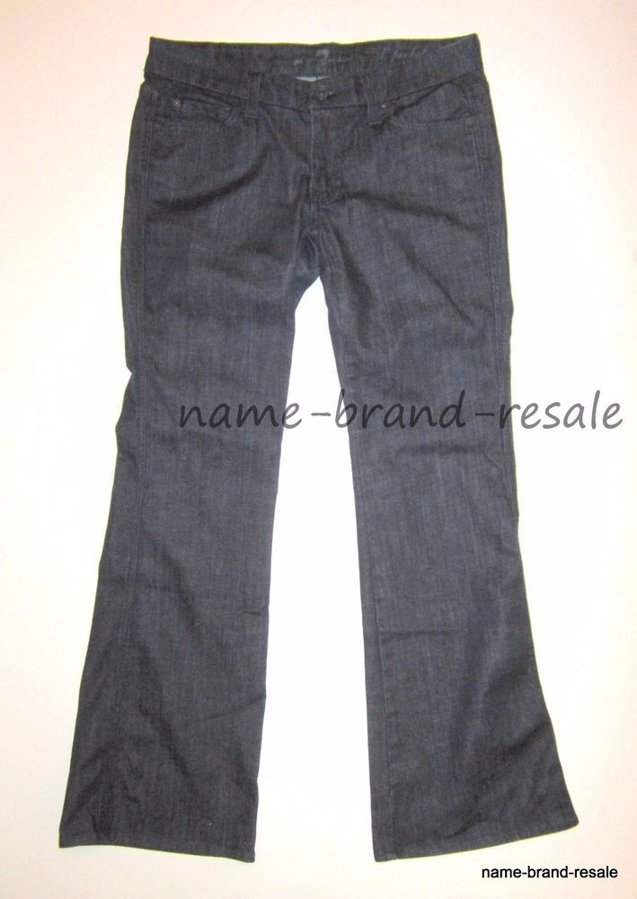 7 For All Mankind A Pocket Womens 29 X 30 Lexie Petite Jeans Dark