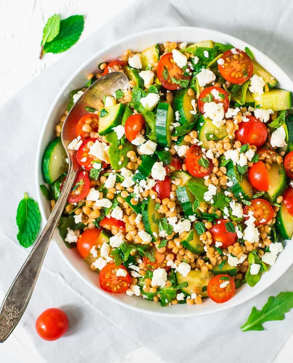 photo Couscous Salad With Feta and Mint