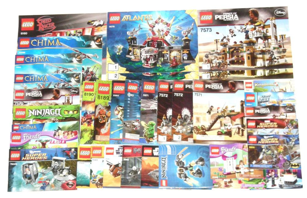 Huge Lego Instruction Books Lot 30 Set Manuals New Upstatebrick