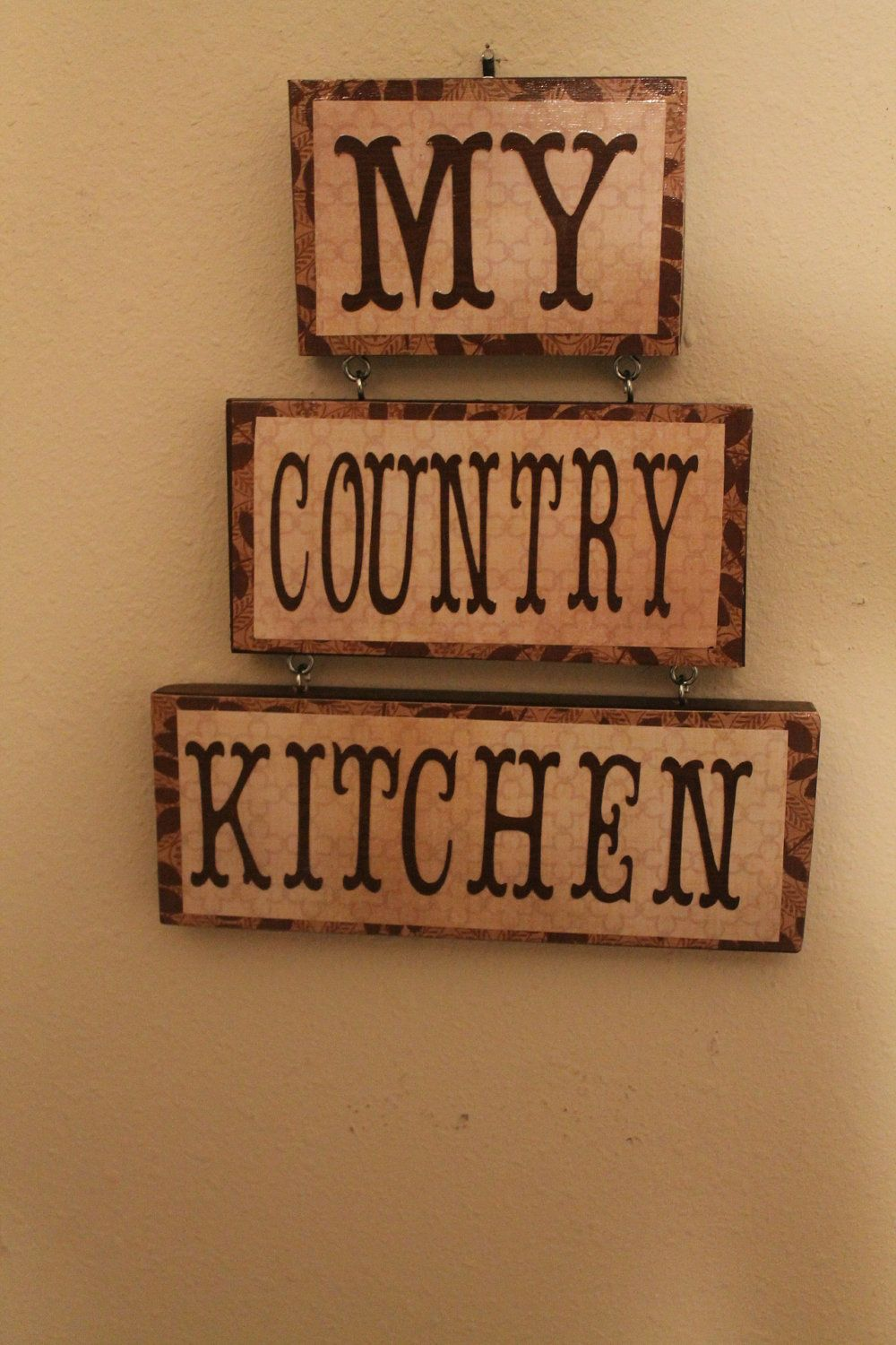 Country Kitchen Sign.. .My Country Kitchen By CraftsByJoyice, $21.95