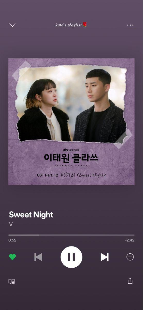 V Sweet Night di 2020 | Kutipan lagu, Lagu, Lirik lagu