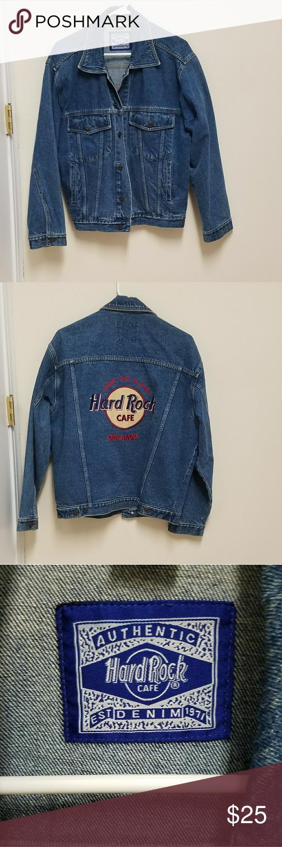 Vintage Hard Rock Cafe Denim Jacket Denim Jacket Jackets Faded Denim Jackets [ 1740 x 580 Pixel ]