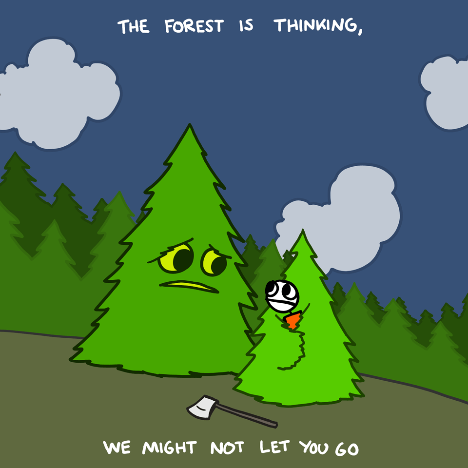 http://explodingdog.tumblr.com/post/28001181984/forest-thinking-new-drawings-at-explodingdog-com