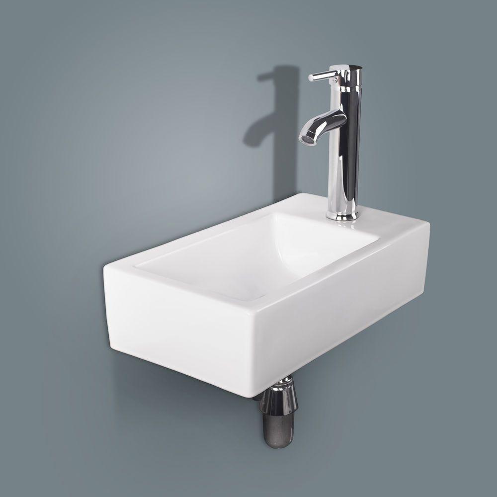 Details About Bathroom Ceramic Vessel Sink Wall Mount Vanity