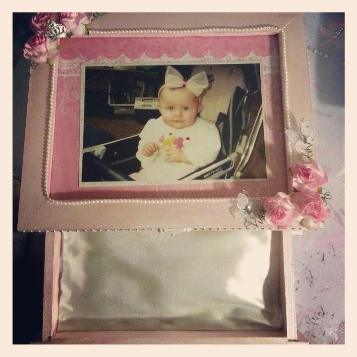 Michaels wooden box altered. Mothers day gift.