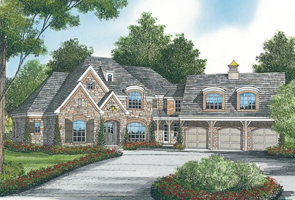 Builder Preferred Two Story Modern Style House Plan 7677 Modern Style House Plans House Plans European House